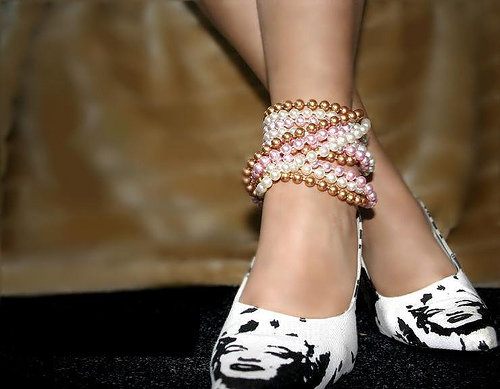 Heels and pearls